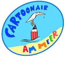 CartoonAir am Meer